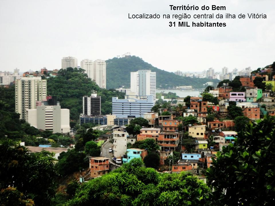 Território do Bem Localizado na região central da ilha de Vitória 31 MIL habitantes