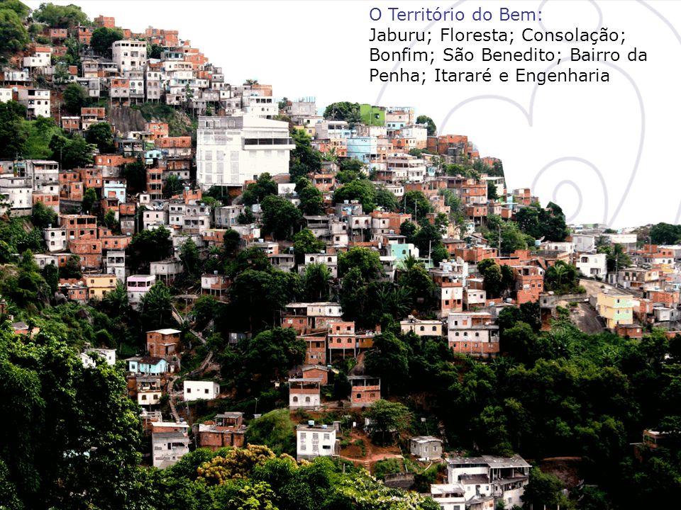 O Território do Bem: Jaburu; Floresta; Consolação; Bonfim; São Benedito; Bairro da Penha; Itararé e Engenharia.