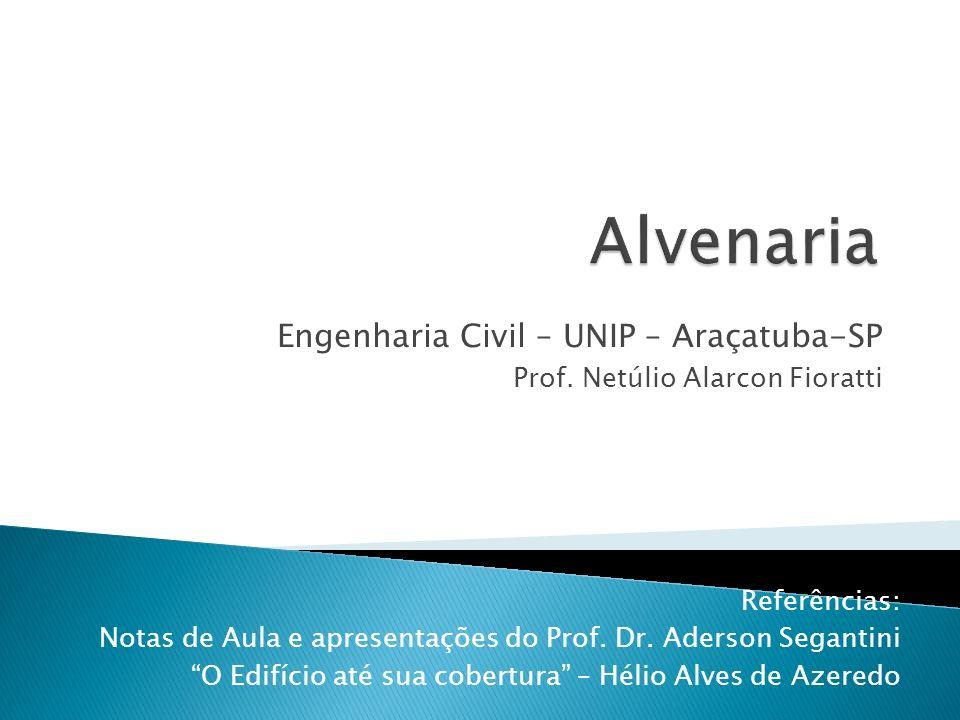 Engenharia Civil – UNIP – Araçatuba-SP Prof. Netúlio Alarcon Fioratti