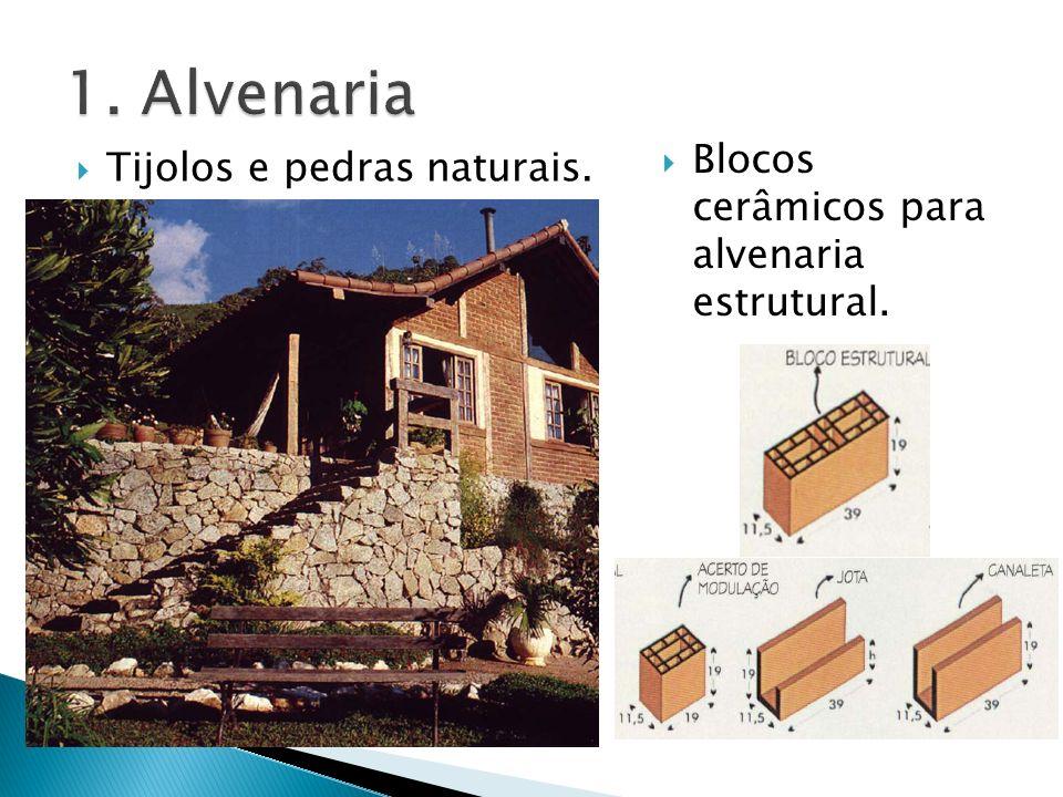 1. Alvenaria Blocos cerâmicos para alvenaria estrutural.