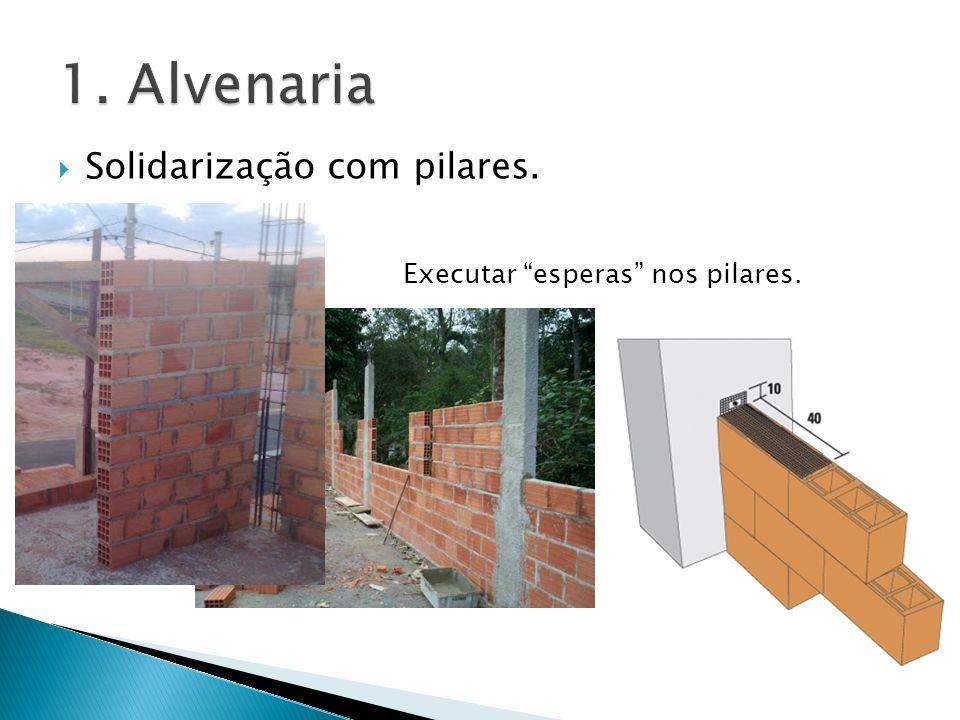 1. Alvenaria Solidarização com pilares.