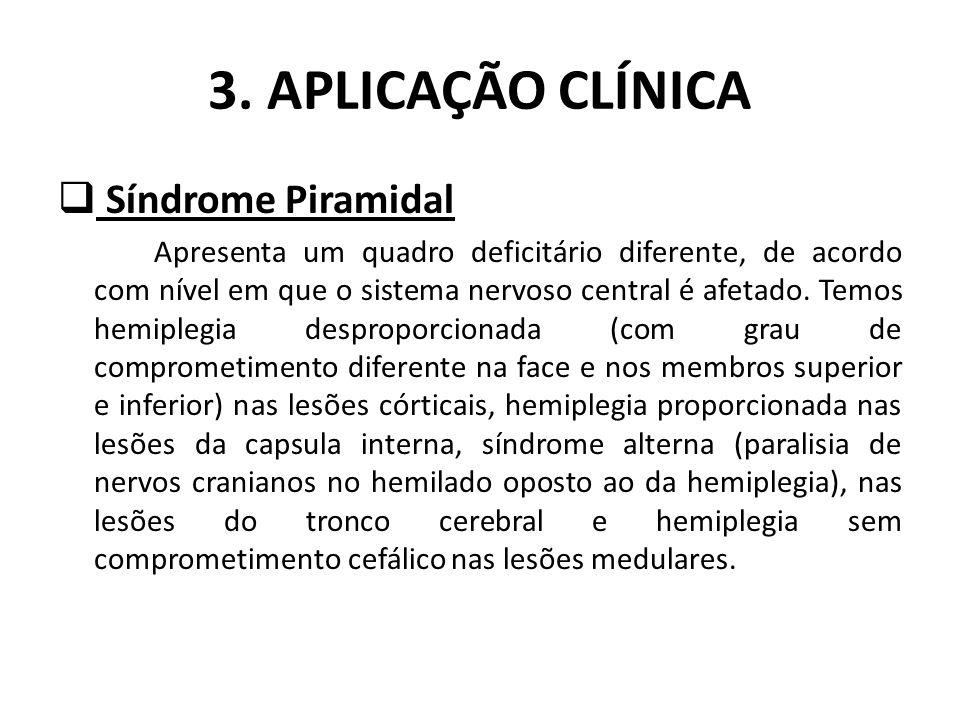 3. APLICAÇÃO CLÍNICA Síndrome Piramidal