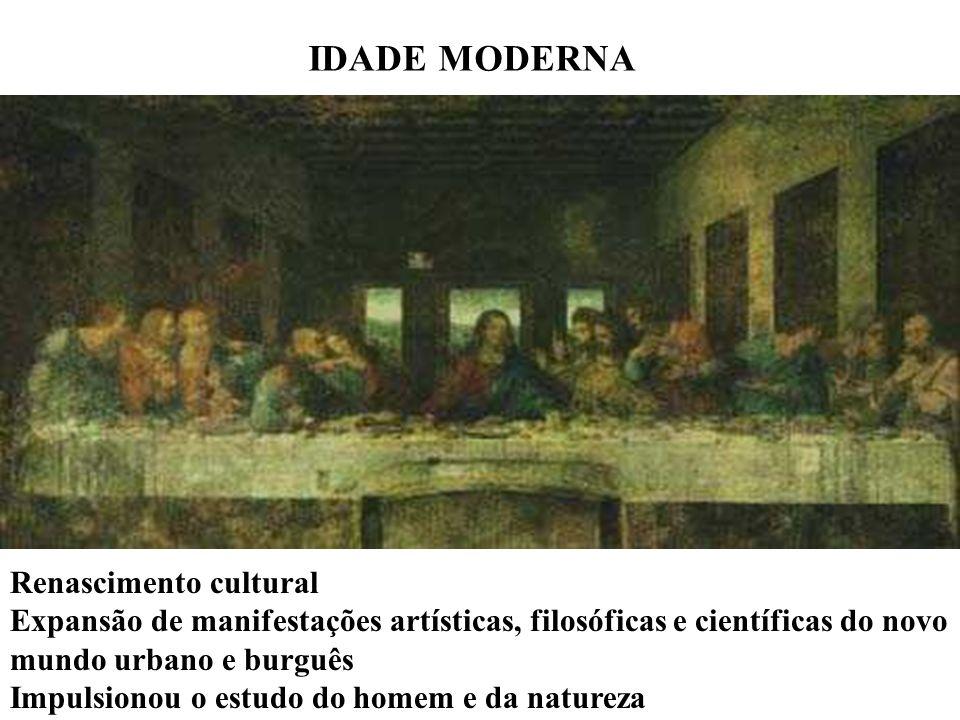 IDADE MODERNA Renascimento cultural