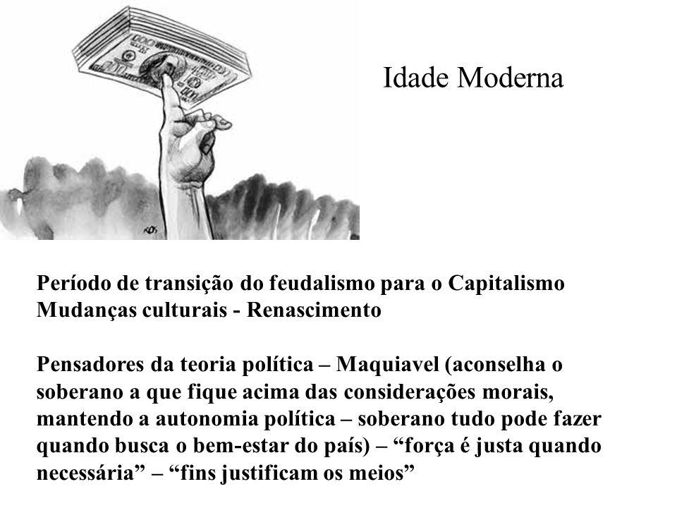 Idade Moderna Período de transição do feudalismo para o Capitalismo