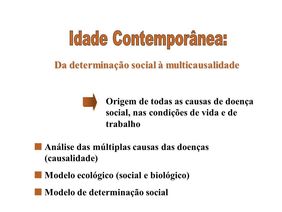 Da determinação social à multicausalidade