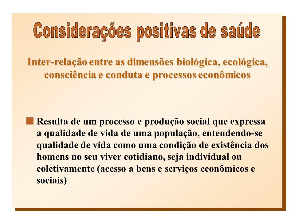 Considerações positivas de saúde