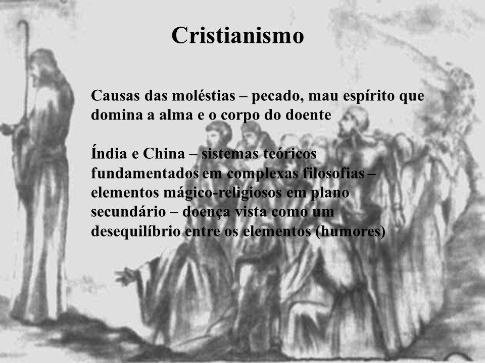 Cristianismo Causas das moléstias – pecado, mau espírito que domina a alma e o corpo do doente.