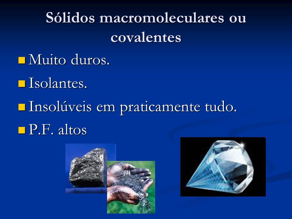 Sólidos macromoleculares ou covalentes