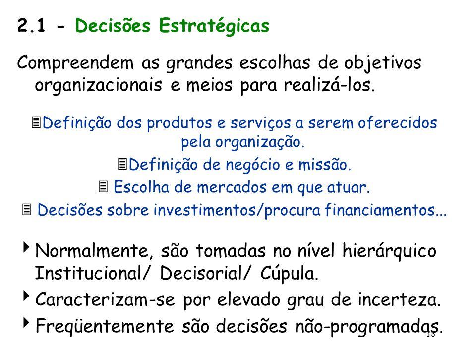 2.1 - Decisões Estratégicas