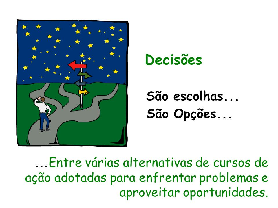 Decisões São Opções... São escolhas...