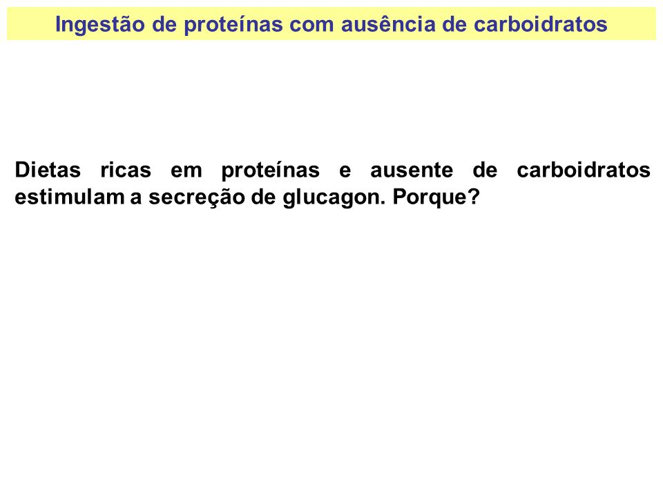 Ingestão de proteínas com ausência de carboidratos