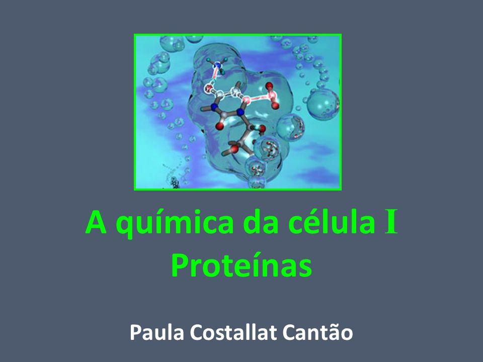 A química da célula I Proteínas