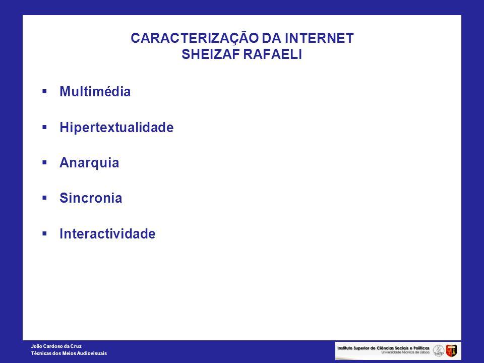CARACTERIZAÇÃO DA INTERNET SHEIZAF RAFAELI