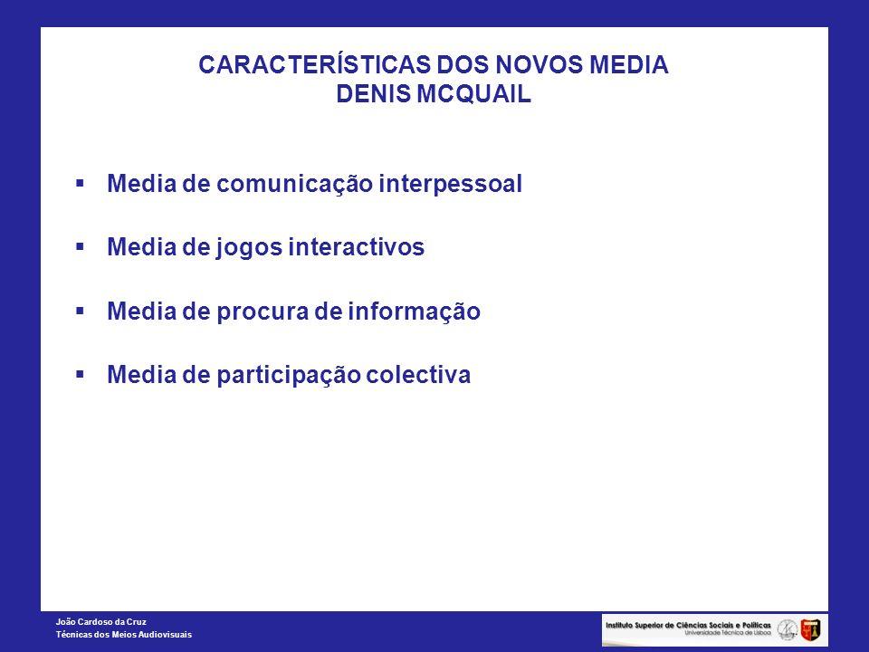 CARACTERÍSTICAS DOS NOVOS MEDIA DENIS MCQUAIL