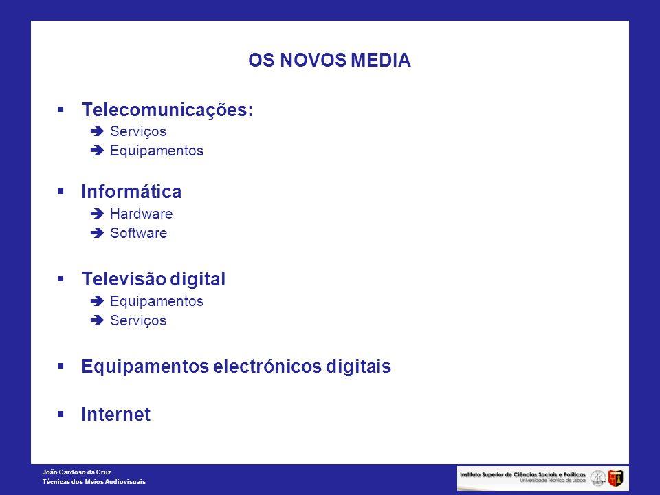 OS NOVOS MEDIA Telecomunicações: Informática Televisão digital