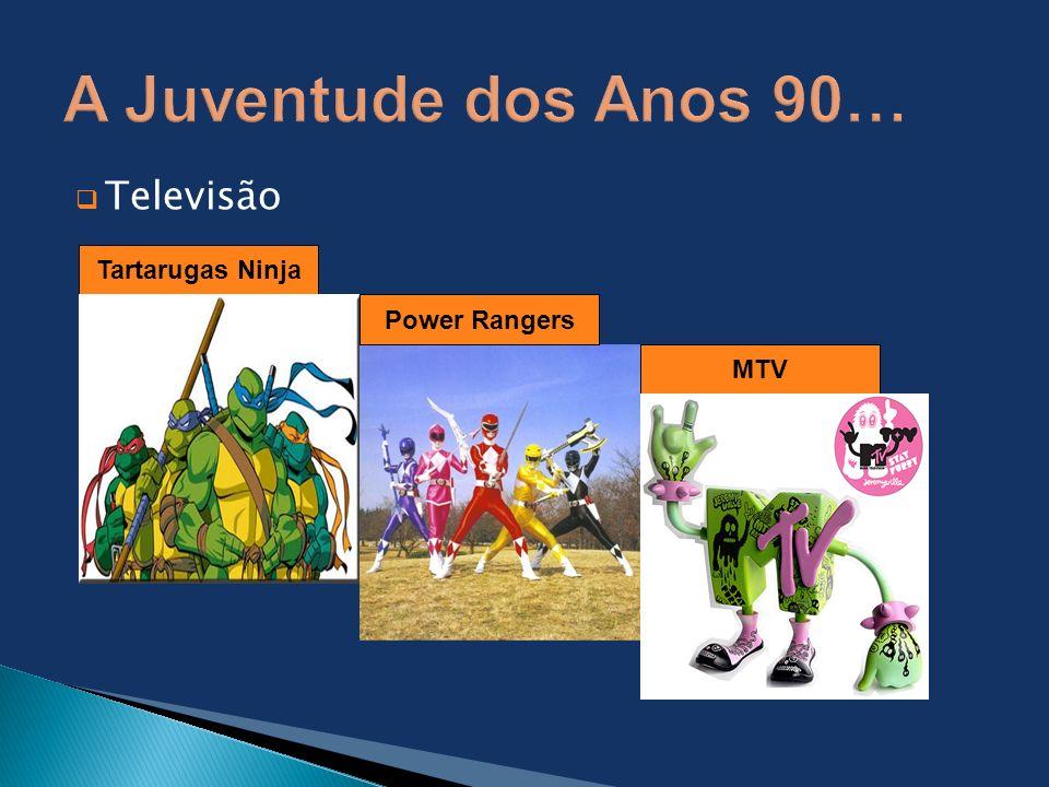 A Juventude dos Anos 90… Televisão Tartarugas Ninja Power Rangers MTV