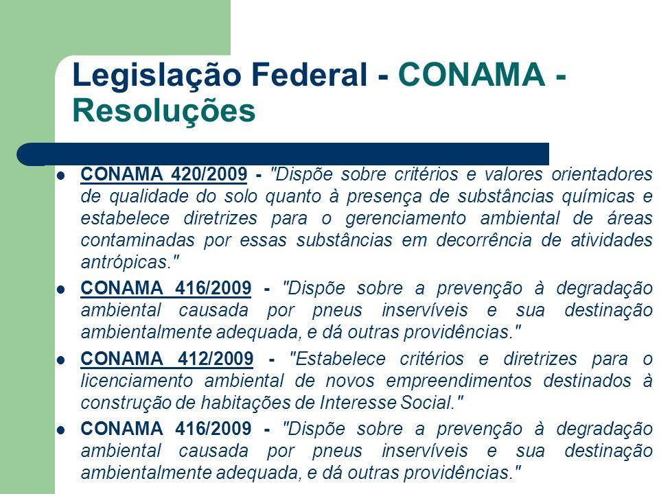 Legislação Federal - CONAMA - Resoluções