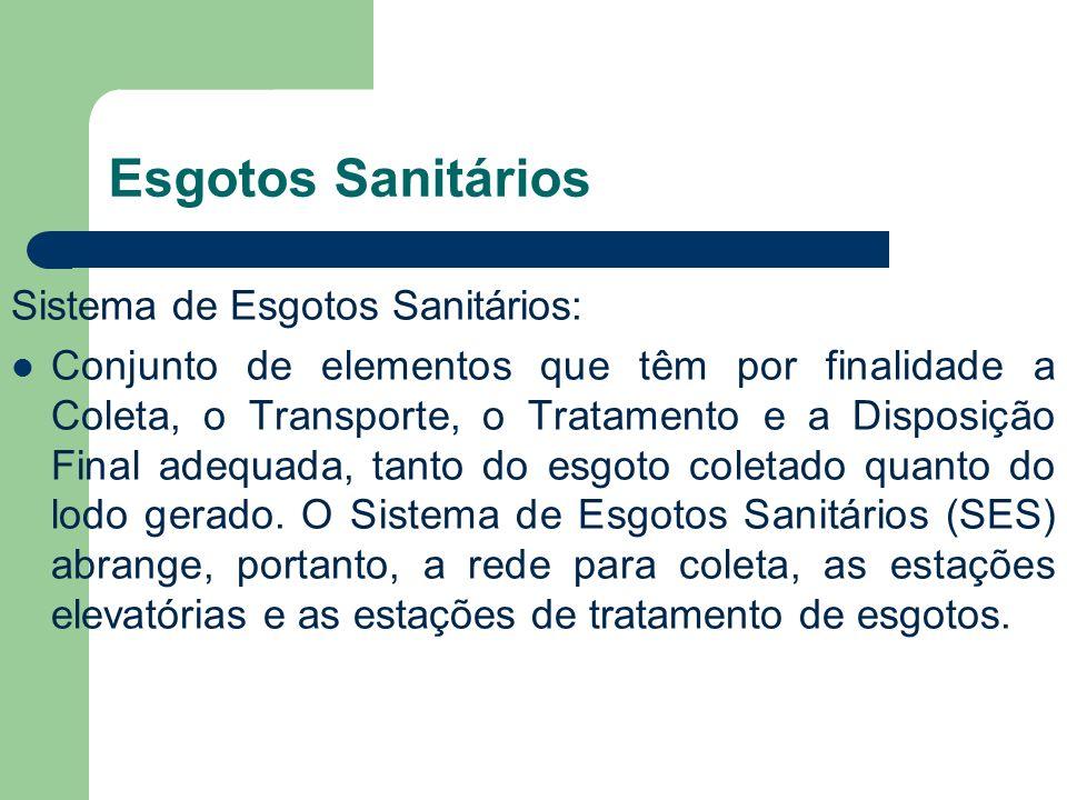 Esgotos Sanitários Sistema de Esgotos Sanitários: