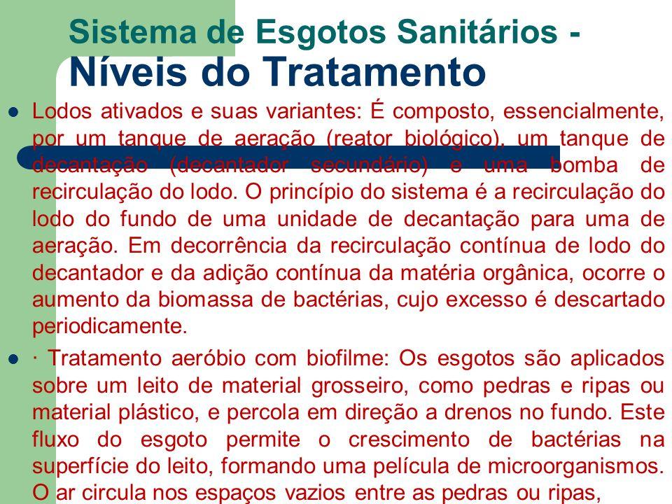 Sistema de Esgotos Sanitários - Níveis do Tratamento