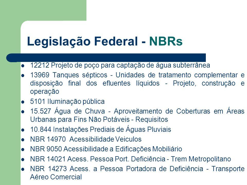 Legislação Federal - NBRs