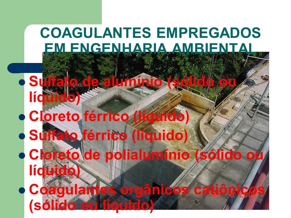 COAGULANTES EMPREGADOS EM ENGENHARIA AMBIENTAL