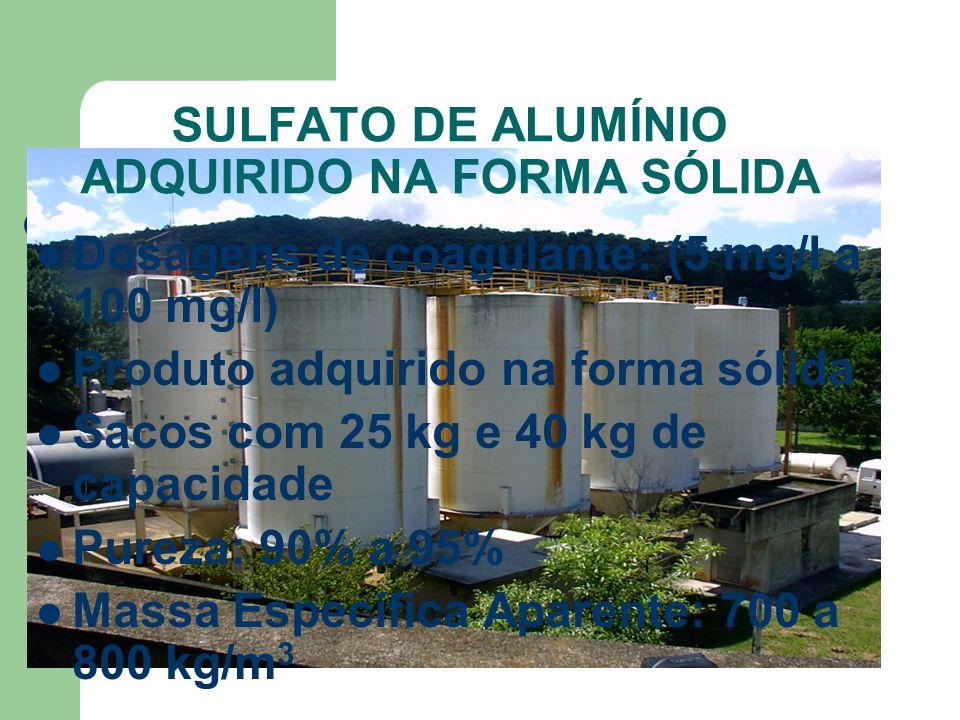 SULFATO DE ALUMÍNIO ADQUIRIDO NA FORMA SÓLIDA
