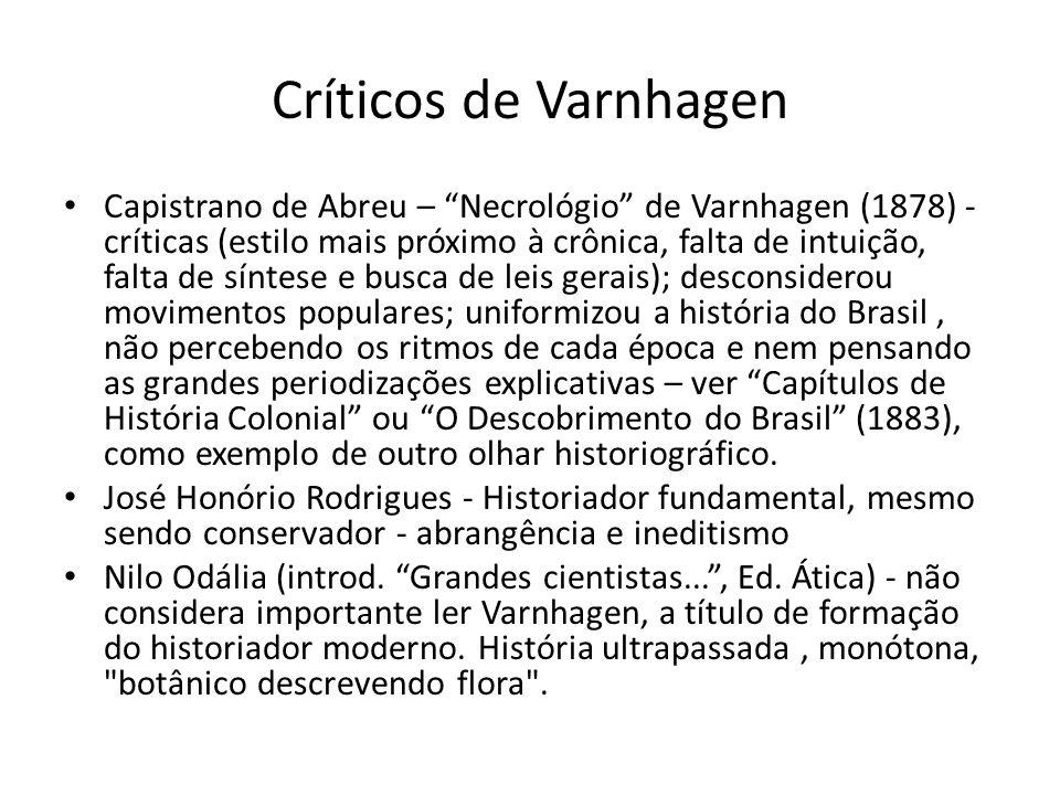 Críticos de Varnhagen