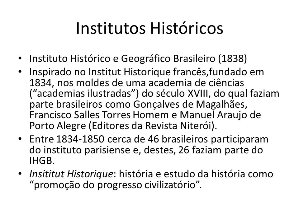 Institutos Históricos