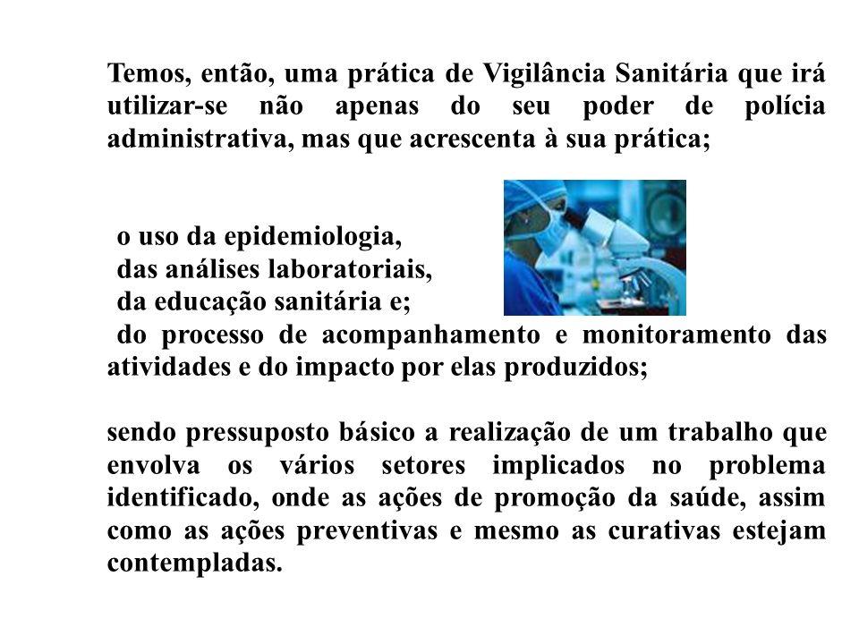 Temos, então, uma prática de Vigilância Sanitária que irá utilizar-se não apenas do seu poder de polícia administrativa, mas que acrescenta à sua prática;