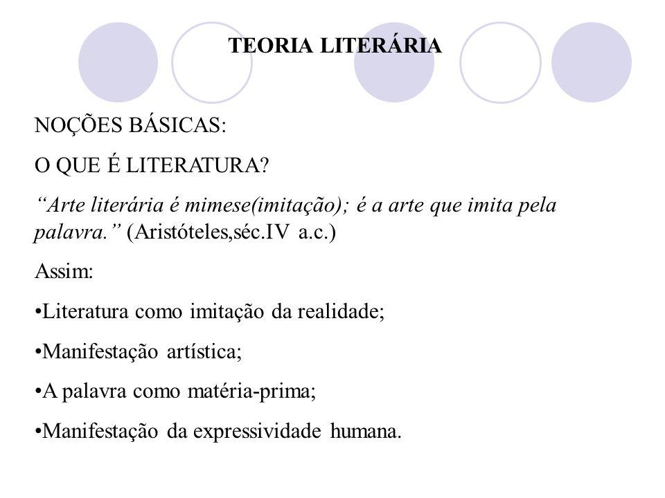TEORIA LITERÁRIA NOÇÕES BÁSICAS: O QUE É LITERATURA