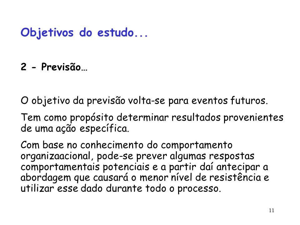 Objetivos do estudo... 2 - Previsão…
