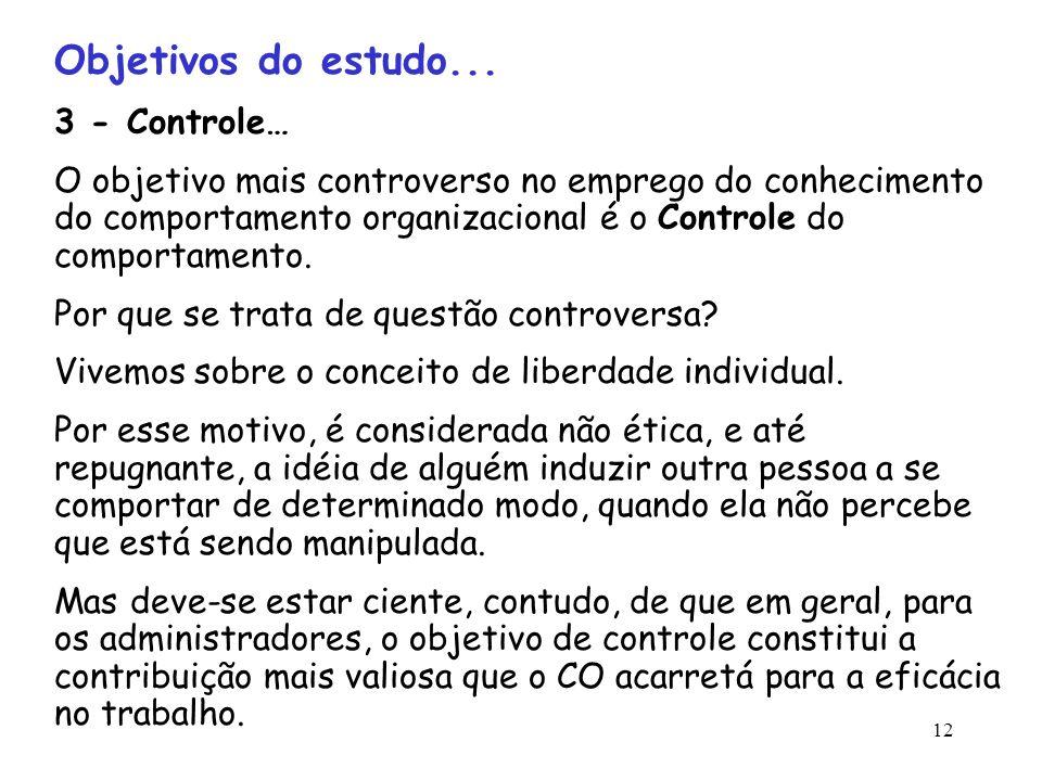 Objetivos do estudo... 3 - Controle…