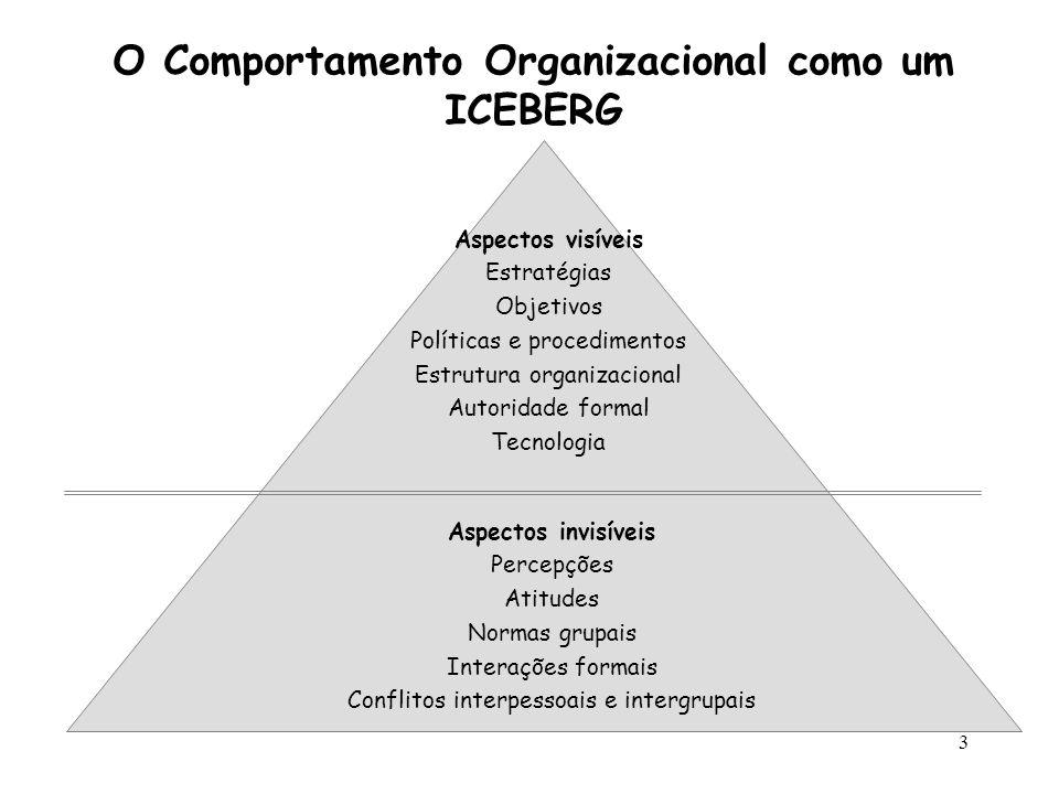 O Comportamento Organizacional como um ICEBERG
