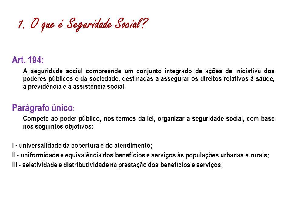 1. O que é Seguridade Social