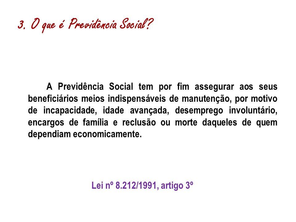 3. O que é Previdência Social