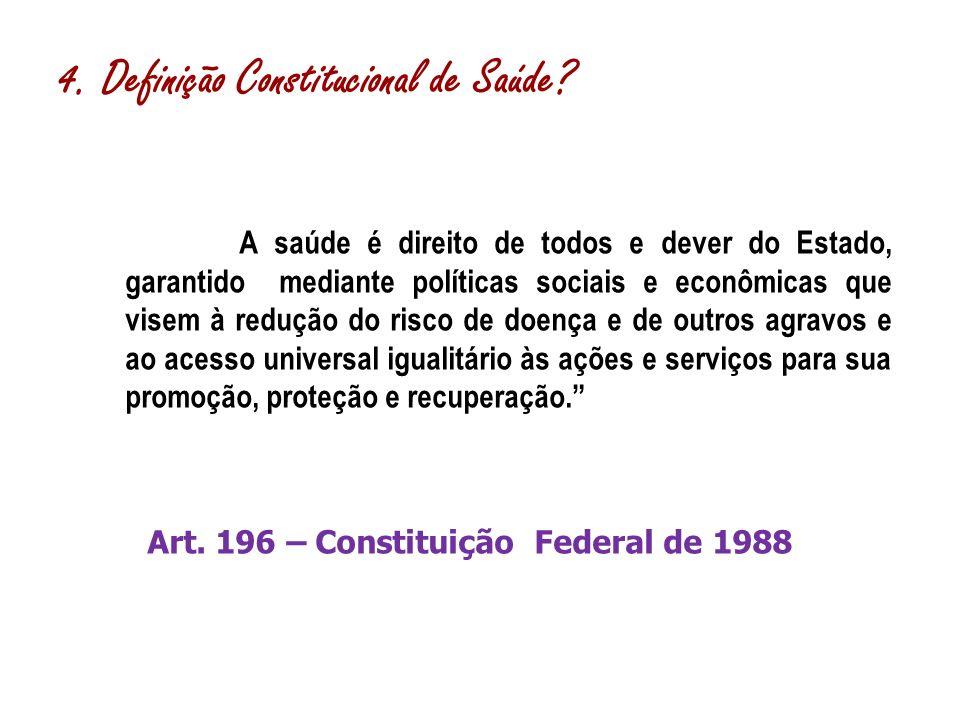4. Definição Constitucional de Saúde