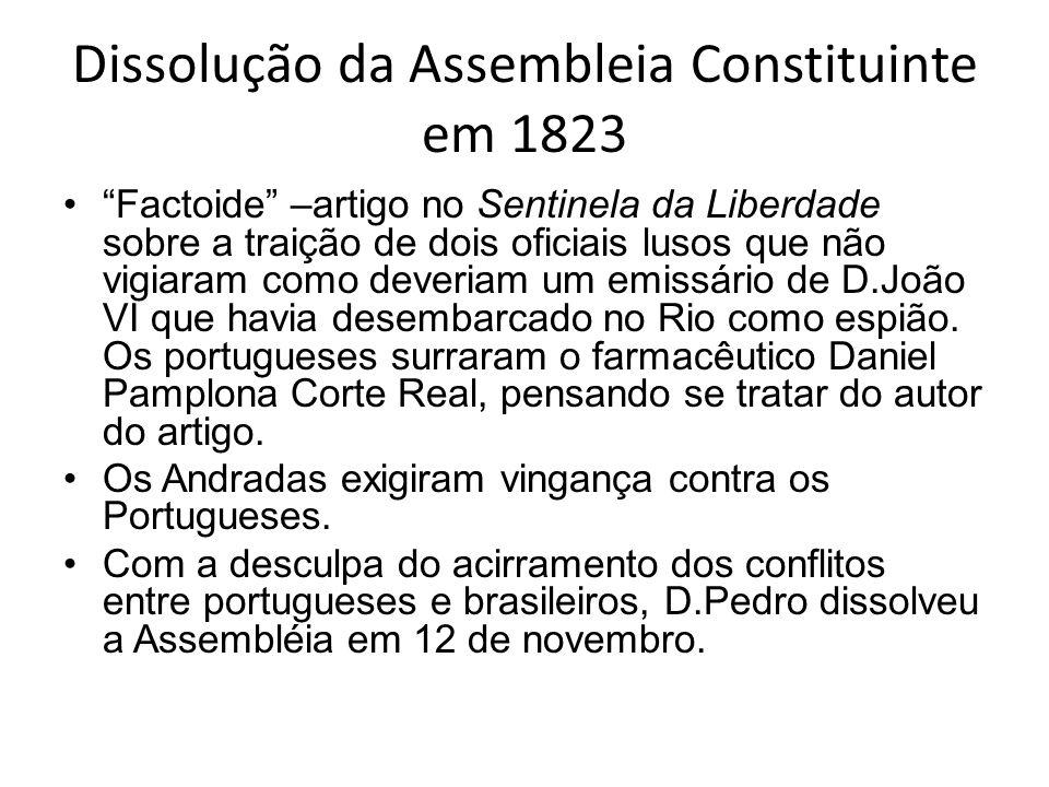 Dissolução da Assembleia Constituinte em 1823
