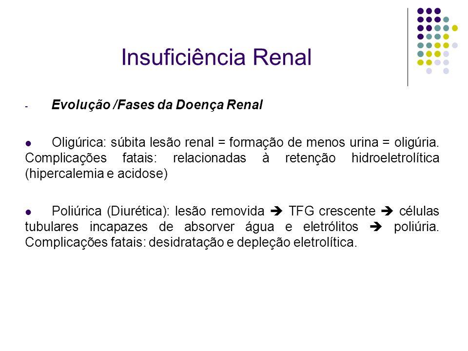 Insuficiência Renal Evolução /Fases da Doença Renal