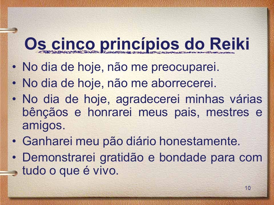 Os cinco princípios do Reiki