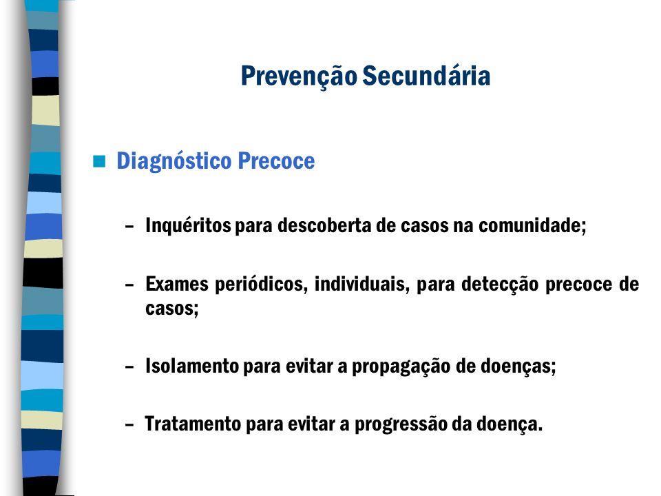 Prevenção Secundária Diagnóstico Precoce