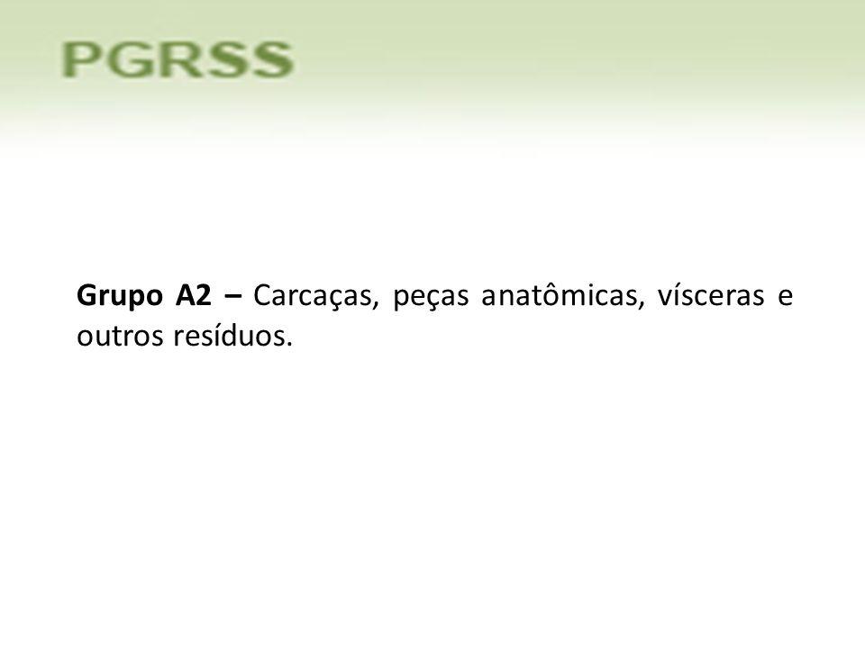 Grupo A2 – Carcaças, peças anatômicas, vísceras e outros resíduos.