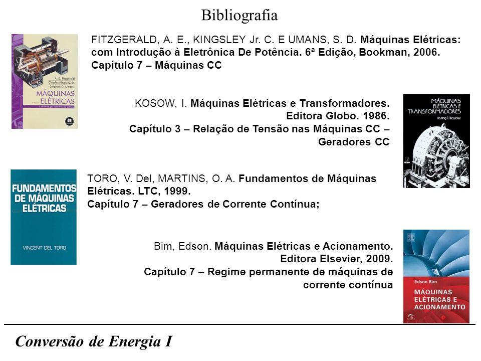 Bibliografia Conversão de Energia I