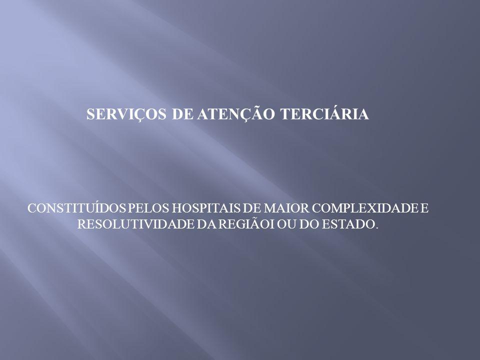 SERVIÇOS DE ATENÇÃO TERCIÁRIA