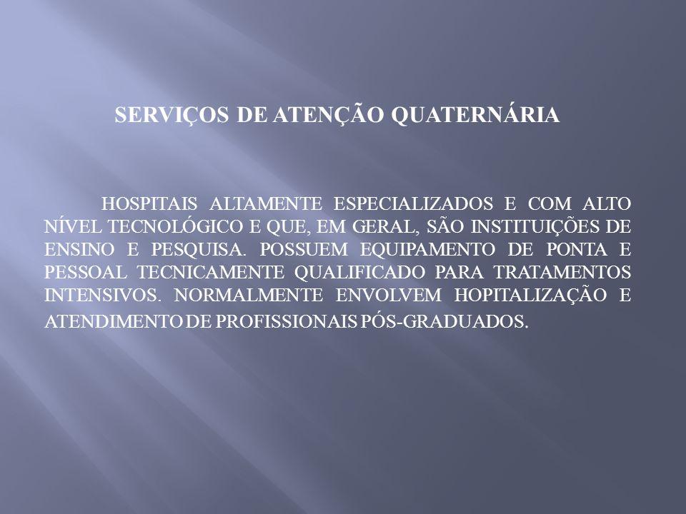SERVIÇOS DE ATENÇÃO QUATERNÁRIA
