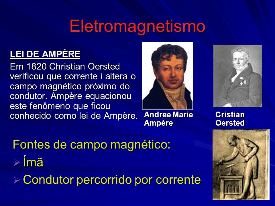 Eletromagnetismo Fontes de campo magnético: Ímã