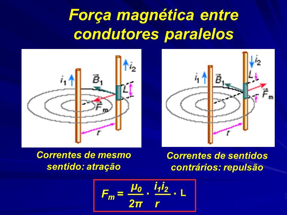 Força magnética entre condutores paralelos