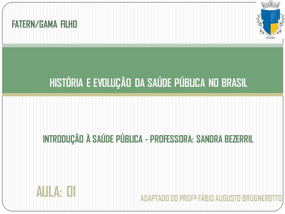 HISTÓRIA E EVOLUÇÃO DA SAÚDE PÚBLICA NO BRASIL