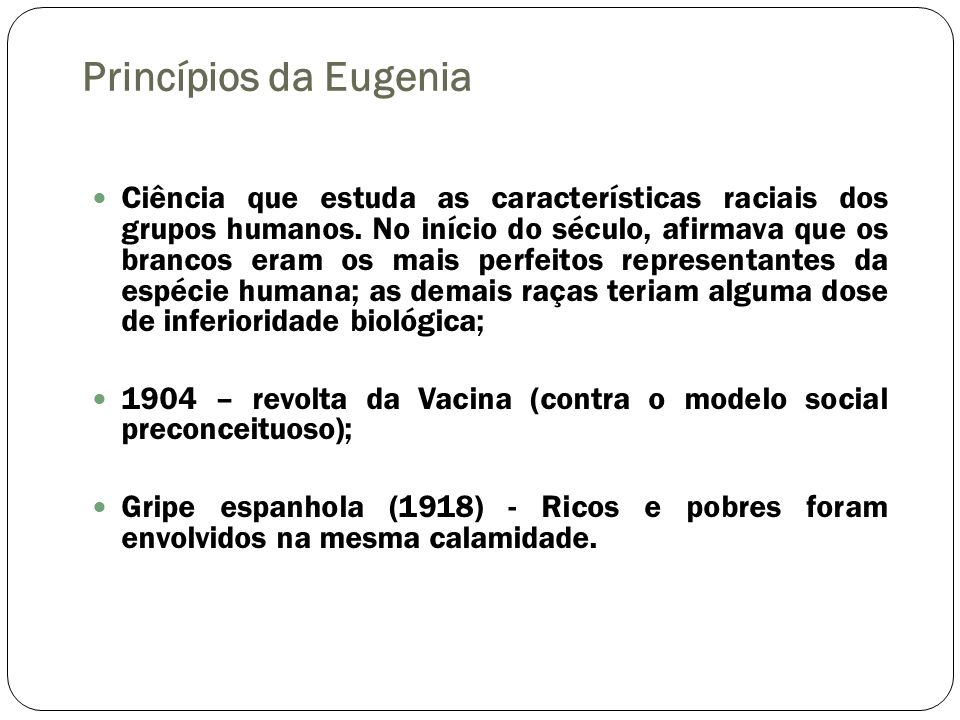 Princípios da Eugenia