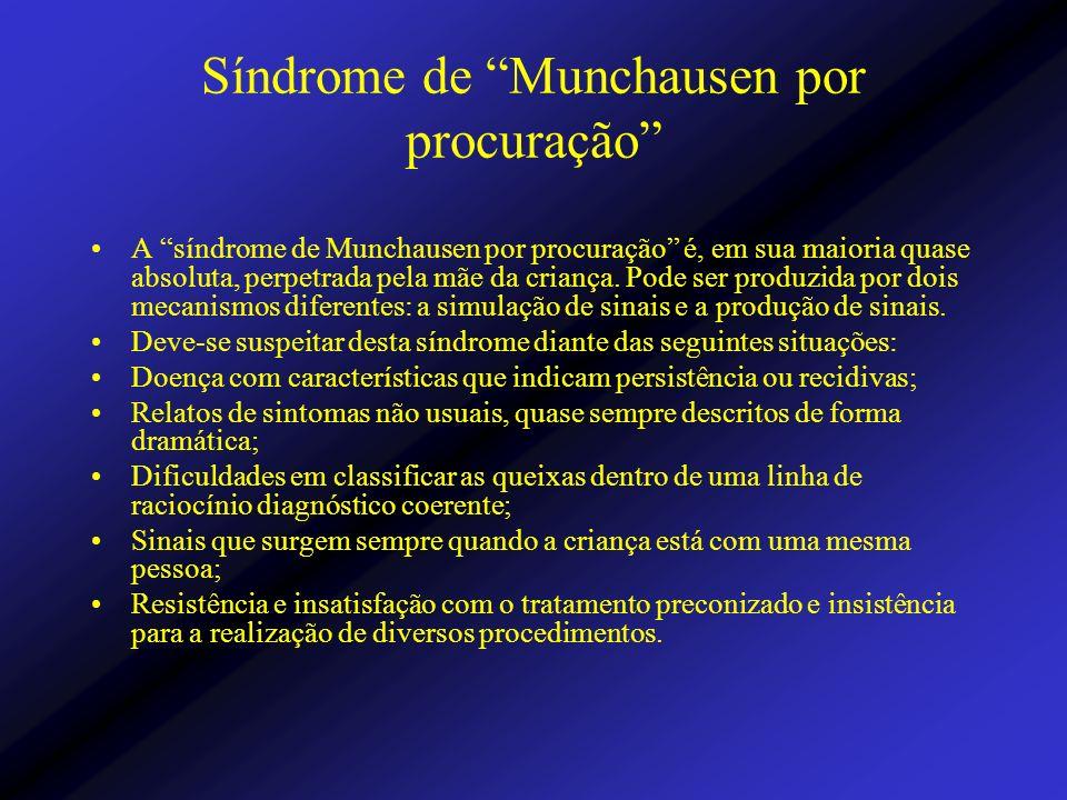 Síndrome de Munchausen por procuração