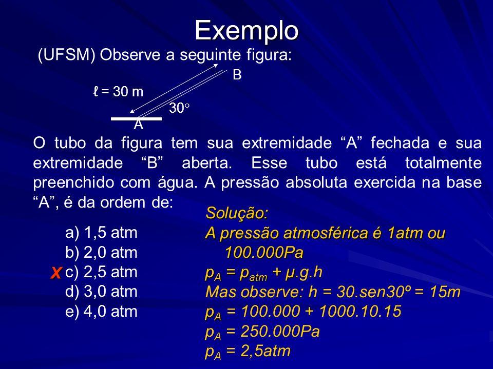 Exemplo (UFSM) Observe a seguinte figura: B